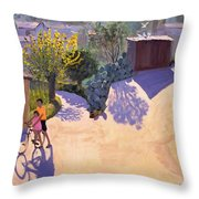 Spring In Cyprus Throw Pillow by Andrew Macara