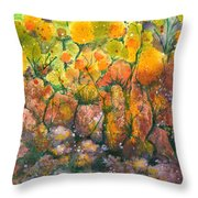 Spring Time Flowers Throw Pillow by Audrey Peaty