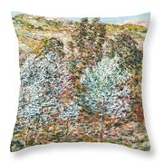 Springtime Vision Throw Pillow by Childe Hassam