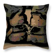 Spurs Throw Pillow by George Pedro