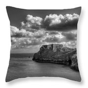St Catherines Rock Tenby Throw Pillow by Steve Purnell