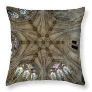 St Mary's Ceiling Throw Pillow by Adrian Evans