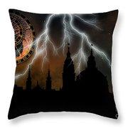 St Nikolas Church - Prague Throw Pillow by Michal Boubin