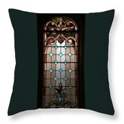 Stained Glass Lc 15 Throw Pillow by Thomas Woolworth