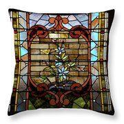 Stained Glass Lc 18 Throw Pillow by Thomas Woolworth