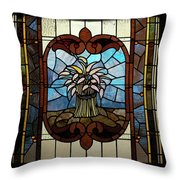 Stained Glass Lc 20 Throw Pillow by Thomas Woolworth