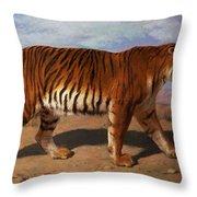 Stalking Tiger Throw Pillow by Rosa Bonheur
