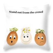 Stand Out From The Crowd Throw Pillow by Jane Rix