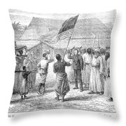 Stanley And Livingstone Throw Pillow by Granger