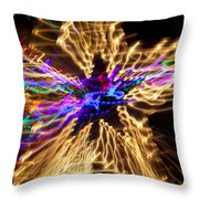 Star Abstract Throw Pillow by Garry Gay