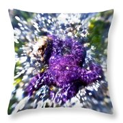 Starfish In The Surf Throw Pillow by Venetta Archer