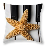 Starfish Piano Throw Pillow by Garry Gay