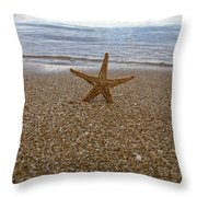 Starfish Throw Pillow by Stylianos Kleanthous