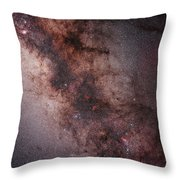 Stars, Nebulae And Dust Clouds Throw Pillow by Philip Hart