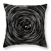 Startrails With Polaris At Center Throw Pillow by Cristian Mihaila
