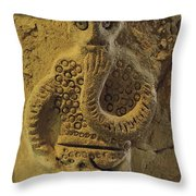 Statue In Iraq Throw Pillow by Thomas J. Abercrombie