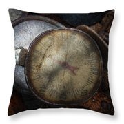 Steampunk - Gauge For Sale Throw Pillow by Mike Savad