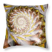 Steampunk - Spiral - Time Iris Throw Pillow by Mike Savad