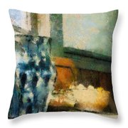 Still Life With Blue Jug Throw Pillow by Lois Bryan