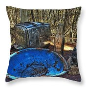 Still Life With Blue Plate Special Throw Pillow by William Fields