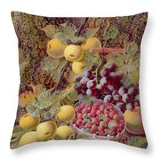 Still Life With Fruit Throw Pillow by Oliver Clare