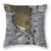 Stone Men 28b - Celebration Throw Pillow by Variance Collections