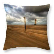 Storm Brewing Throw Pillow by Adrian Evans