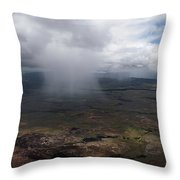 Storm Clouds Hover Above The Highlands Throw Pillow by Bobby Haas