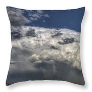 Storm Clouds Thunderhead Throw Pillow by Mark Duffy