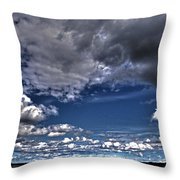Stormy Clouds ... Throw Pillow by Juergen Weiss