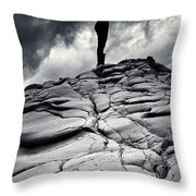 Stormy Silhouette Throw Pillow by Stylianos Kleanthous