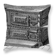 STOVE, 1876 Throw Pillow by Granger