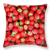 Strawberries  Throw Pillow by Yali Shi
