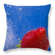 Strawberry Soda Dunk 4 Throw Pillow by John Brueske