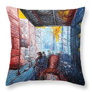 Street 2 Throw Pillow by Bekim Mehovic