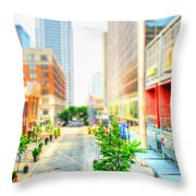 Street's Of Louisville Throw Pillow by Darren Fisher