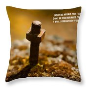 Strength Throw Pillow by Bonnie Bruno