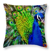 Strut Proudly Throw Pillow by Angelina Vick