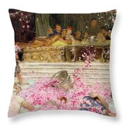 Study For The Roses Of Heliogabulus Throw Pillow by Sir Lawrence Alma-Tadema
