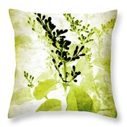 Study In Green Throw Pillow by Judi Bagwell
