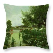 Summer - One Of A Set Of The Four Seasons Throw Pillow by Arthur Walker Redgate