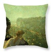 Summer Evening In Paris Throw Pillow by Childe Hassam