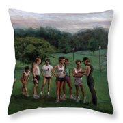 Summer Evening Meet Throw Pillow by Sarah Yuster