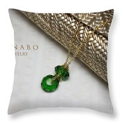 Summer In Green Throw Pillow by Eena Bo
