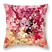 Summer Throw Pillow by Mo T