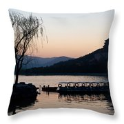 Summer Palace Evening Throw Pillow by Mike Reid