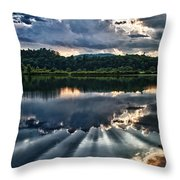 Summer Thunder Throw Pillow by Nathan Larson