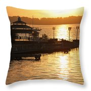 Sun Rising Throw Pillow by Suzanne Gaff