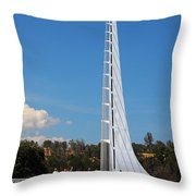 Sundial bridge - This bridge is a glass-and-steel sculpture Throw Pillow by Christine Till