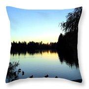 Sundown At Lost Lagoon Throw Pillow by Will Borden